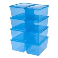 This classic storage box is perfect for storing blankets, holiday decorations or bulkier clothing items. Snap-tight lid keeps contents secure, and clear lid and body make it easy to identify items inside. Stack multiple units securely for maximum organization.