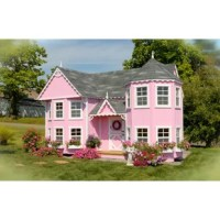 The beautiful Sara's Victorian Mansion DIY Kit Playhouse showcases fancy Victorian and gingerbread trim. This playhouse is perfect for any princess. The mansion has lots of room for tea parties, taking care of baby dolls, or hosting a holiday get-together. This playhouse comes as a Panelized Kit which means it is Prefabbed and ready to construct. Floor Kit is included. The customer is responsible for the shingles, drip-edge, and paint. Made in the USA with Amish craftsmanship.