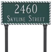 Montague Metal Products address plaques add that extra bit of curb appeal to your home.One of the first items people notice while looking for your home is your address plaque. Forged with recycled aluminum using sand.
