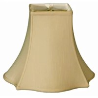 This lamp shade adds a little flair to the traditional bell-shaped shade with a square top, curved sides and a fancy trimmed edge to create a polished, classic look. Made of tailored silk-type shantung fabric with an off-white softback lining (black shades have gold softback lining) to create a warm, soft glow. The 12
