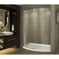 With this shower door, you can instantly upgrade your current shower alcove into one that is equal parts stunning, modern, and functional. The unique 'arched' sliding door allows for additional shower space that you never knew you had; and one that easily installs into your common current 60