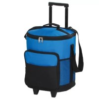 Their Picnic Plus dash rolling cooler features a fully insulated PEVA leak proof lining and a telescopic handle. The durable double wheeled base adds stability for any terrain and has a front pocket, side mesh pockets and shoulder strap. Take the dash rolling cooler to your next sporting event, outdoor concert, camping trip or local adventure. Holds 30 cans.
