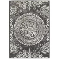Looks aside, area rugs help absorb and decrease noise and soften the step of hardwood and tile flooring. As if plucked from a bustling bazaar, this rug's oversized medallion motif brings a bold boho style home. Made in Belgium, this rug is woven from stain-, fade-, and water-resistant polypropylene fibers. Its low pile, at only 0.2'', stays shed free under heavy foot traffic. With enough muscle to withstand the elements, this rug is suitable for sheltered outdoor areas as well. For general...