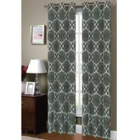 Transform any room in your home with luxurious, textured faux-silk window treatments. Each faux silk panel is embellished with an all-over flocked applique which creates the design. Curtain panel pairs are specially woven to create a textured surface that looks and feels like raw silk. A slight sheen adds style and decorative flair to each drapery panel. Easy slide, open and close decorative metal grommets allow you to create instant privacy in one easy movement. From traditional to...