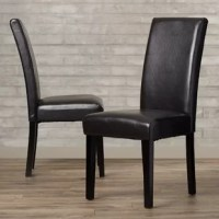 Whether using it during a family feast or when you're short a seat playing a hand of cards, extra chairs are always a good thing to have around the house. Take this one for example: crafted from solid wood, this parsons chair showcases a clean-lined design founded atop tapered legs, working well in a variety of aesthetics. Wrapped in foam-filled faux leather for an inviting feel, this piece boasts a neutral hue that works well in a variety of color schemes.