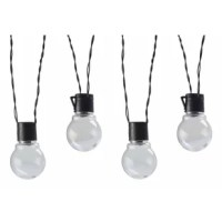 These lights are designed to illuminate your outdoor walkways, dining areas, and decks, all while adding extra safety and security to your home. Made of durable plastic, the string light set has a remote solar panel that can mount to the wall, clip to umbrella or stake in the ground. The LED string lights provide a warm white light from the 10 LEDs on the string, allowing you to highlight your deck railing, posts or stairs. The LED bulb will never need to be replaced and will remain cool to the...