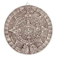 Angel Cerón presents a faithful replica of the Aztec calendar, known also as the