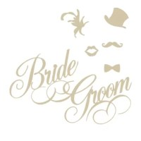 Each piece can be applied separately and arranged just the way you like it. Wedding Decal for a celebration of matrimony. Great photo op for a Bride and Groom. These stickers are great for the wall behind the just married couples table. Small sizes available for bathroom or makeshift dressing room doors. Make fun gifts at the Bachelorette and bachelor parties too. Removable nondamaging wall stickers as wedding decor are the perfect solution for a wedding party if you are renting a space.