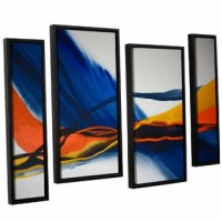 Blue Wave is a stunning abstract reproduction featuring gorgeous vibrant tones flowing across one another. A wonderful conversation piece that will compliment any home or office.