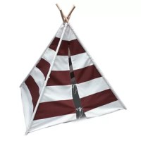 New improved design! Introducing the perfect private space for your little one in the shape of a classic Indian tepee. This Children's Play Teepee with Carrying Bag offers your child their own little fort-like room anywhere they like it. Constructed of solid wood dowels with a molded ABS connectors and wrapped in soft cotton canvas, your little guy or girl will love to take their tepees anywhere they want. they make this possible with their simple design which assembles in minutes. Each set...