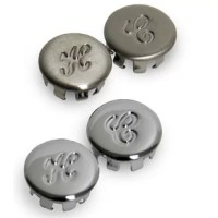 The Faucet Index Button makes it easy to replace missing, broken, or dirty faucet handle buttons. These buttons are constructed from stainless steel material that is durable enough to endure the rigors of everyday use. They feature a snap-in design for easy installation.