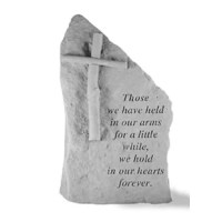 Proudly made in the USA this garden stone is the perfect accent to any garden or landscape. Whether it's a sentiment to a loved one or to celebrate or remember someone special, these momentous will be sure to evoke emotion in anyone who reads them. Made from cast stone they will stand the test of time. They are made to be weatherproof & guaranteed to last a lifetime.