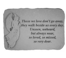 Proudly made in the USA this stepping stone is the perfect accent to any garden or landscape. Whether it's a sentiment to a loved one or to celebrate or remember someone special, these momentos will be sure to evoke emotion in anyone who reads them. Made from cast stone they will stand the test of time. They are made to be weatherproof & guaranteed to last a lifetime.