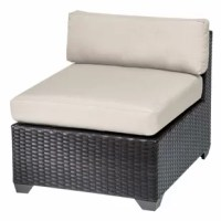 Create a relaxing getaway for your next backyard get-together with this handwoven wicker lounge chair set, the perfect addition to your patio furniture arrangement. This pair of loungers is crafted with resin wicker-wrapped aluminum frame and high-performance fabric upholstery that resist wet weather and UV fading for year-round outdoor use. Made to help you relax, these armless chairs feature deep seating in a sleek, modern silhouette. They're topped with 4'' thick seat and back cushions in...