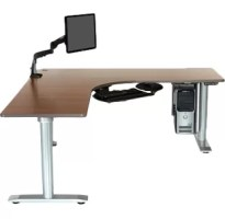 The Vox Perfect Corner boasts a sleek design and amazing durability. This modern L-shape desk has no cross brace, allowing maximum knee space and complete freedom of movement.