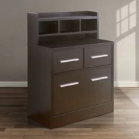 Simple lines and a pared-down size make this workstation file cabinet/desk just what you need if you're looking for a place to write letters or pay bills in the kitchen or bedroom. It also works well as a utility storage cabinet for everyday use or as a thoughtful addition to the guest room with its multiple drawers.