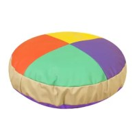 The Soft Seating gives kids a bright and comfy place to read. Shredded foam filling and environmentally friendly polyurethane cover gives pouf a soft yet supportive feel.