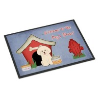 A black binding tape is sewn around the doormat for durability and to nicely frame the artwork. The doormat has been permanently dyed for moderate traffic and can be placed inside or out (only under a covered space). Durable and fade resistant. The back of the doormat is rubber backed to keep the mat from slipping on a smooth floor.