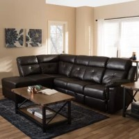 Ruggedly handsome style, softy-smooth comfort, and luxurious surprises go hand in hand in this 2-piece sectional. The set includes a loveseat with a recliner, a chair with a foldable seat back and a stationary chair and a chaise with gas-lift storage. Crafted with pinewood and plywood and upholstered in dark brown faux leather, it takes relaxation to another level. Featuring a drop table with two-cup holders and a built-in pocket upon folding the chair back, this allows proper storage for your...