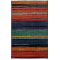 A carnival of color, the stripe pattern of rainbow rug will invigorate your space with lively design and punchy bright hues! A best seller for its brilliant use of bold color, this rug will easily pair with a multitude of room scenes and color motifs to create a look that is truly all your own. The rainbow rug is quality constructed with the proven wear-free performance of their premium nylon fibers. With superior standards of durability and stain resistance, this rug is ideal even for use in...