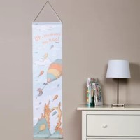 """Dr. Seuss Oh The Places You'll Go! Growth Chart by Trend Lab offer a whimsical way to track your little one's growth.The Dr. Seuss Oh, The Places You'll Go, growth chart features the high fliers and balloons who """"soar to high heights"""" printed on Dr. Seuss' great sights background. The color palette is delightful featuring mint, apricot orange, dusky orange, sky blue, sunset yellow and white. Measure your child's progress up to 72"""