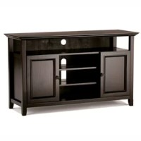 Having just purchased your dream large flat screen TV - you need the perfect TV Stand to enhance your viewing pleasure. Look no further. This TV Stand is perfectly sized for TV's up to 60 inches. The 32-inch height puts the TV at a level that is ideal for comfortable viewing. This TV Stand has plenty of storage and space for all your media and gaming devices. It has an expansive open upper shelf as well an as centrally located open area with two adjustable shelves. The two side storage cabinets...
