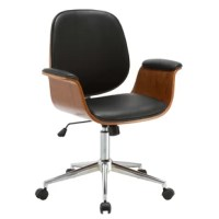 Create a truly modern mood in your home office with the Idalia Mid-Back Office Chair. The smooth upholstered faux leather seat and armrests provide comfort during long stretches at your desk, keeping you productive, upbeat, and focused. The sturdy metal base and caster wheels keep you mobile and comfortable. Keep this modern chair in your home office or formal workstation to encourage creativity.