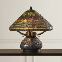 Fontaine Imperial bronze finish table lamp, elegant Tiffany style is a timeless staple of home decor. The various designs are hand assembled using the copper foil technique. With an enormous variety of colors and patterns to choose from August Grove®'s have become more popular than ever.