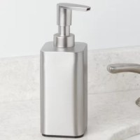 This Pump Soap Dispenser is a modern, stylish and practical accent for your kitchen or bathroom sink. With a stainless dispenser and brushed plastic pump head, this soap pump is rustproof.