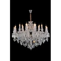 Lighting can transform a room and chandelier lighting makes a dramatic statement. Traditionally adorned with crystals and other glass pieces designed to refract rays of light. Chandeliers infuse any room with a captivating elegance.