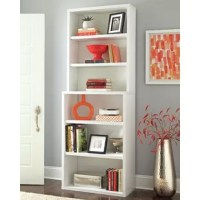 The Decorative Standard Bookcase from ClosetMaid is a versatile storage solution with an attractive clean-lined design. Store books, binders, media, and more on six sturdy shelves while perforated punch-out holes in the backer provide convenient cable management for devices such as music players, smart home hubs, game consoles, and printers.