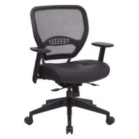 The chair is sure to astonish everyone in your office.The modern bonded leather seat and air grid back with built-in lumbar support provides comfortable seating.The chair has height adjustable and a heavy duty black finish nylon base.