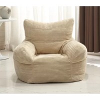 An alternative to an armchair, a bean bag gives you a fun place to kick back, relax, and enjoy the latest episode of your favorite show. The cover is crafted from velvet with a ribbed design for a touch of texture, while polystyrene bead fill gives this chair its distinctive look and pliability. A childproof zipper keeps the fill secure. This must-have item measures 25'' H x 15'' W x 21'' D overall, so it's great for adults!
