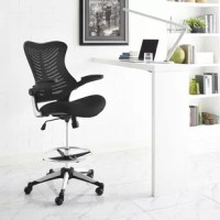 Energize your office with the Charge Drafting Stool. Charge features a distinctive butterfly form and ribbed design that delivers exceptional appeal and comprehensive ergonomics. Outfitted with a steel footring, extra tall gas cylinder, five dual-wheel casters, nylon frame with a two tone base, padded vinyl armrests that easily rotate up 90 degrees, and a generously padded mesh seat, Charge is an esteemable drafting stool suitable for the complex needs of the modern office.