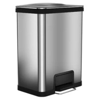 AirStep™ trash can is the most sophisticated step trash can ever make. From its low-effort, ergonomic, feather-light step-activated open to its ultra-gentle, silent close, this trash can offers the most reliable and consistently pleasant experience available in a step trash can. The pedal has been designed to perform perfectly for over 200,000 steps; that's years of rigorous, daily use! Designed for maximum space efficiency, AirStep provides 25% more capacity than comparably sized trash...