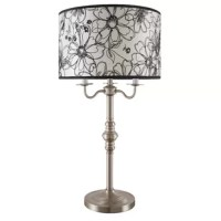 Add a touch of old-world sophistication to your home or office lighting with the Brooks Farm floor lamp from Red Barrel Studio. Brushed nickel base and stem lead to a decorative lamp shade adorned with a flower print sure to please even the harshest of critics. Dual soft-glow light bulbs will illuminate your space and your heart.