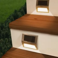 This Solar Powered Battery Powered LED Deck Light Pack is weatherproof stainless steel rechargeable solar step lights that feature ultra-bright surface mount LEDs and a high-performance solar panel. Allowing you to perfectly illuminate your deck, stairs, walkway, or dock. Plus the built-in light sensor automatically turns this on at night and the frosted front plate evenly disperse light so you can see in the dark. Never worry about tripping over wires, cords, or replacing dead batteries again!...