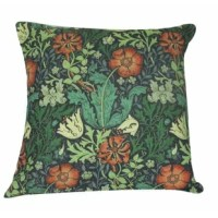 A wonderful pillow case of an antique William Morris print. Heartwarming and lovely. Carefully crafted with a hidden zipper for ease of cleaning. Sold with or without an insert.