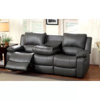 Whether you love to host big parties for Sunday night football games or just want to curl up with your latest book club read, this lovely sofa is a must-have for your home. Wrapped in charcoal black faux leather upholstery, it is perfect for setting an understated foundation for your traditional aesthetic. The stitch-work detailing adds an extra touch of artful flair, while the bucket seat design adds inviting appeal. Equal parts function and fashion, this sofa also features a reclining design...