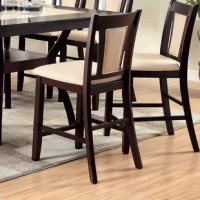Add some sophistication to your dining environment with these sleek Wilburton Counter Height Side Chairs. Every guest can rest comfortably upon the upholstered chairs that are durably designed with solid wood frames, ensuring long-lasting support and stylish parson style designs. Sold in pairs only.