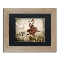 This ready to hang, matted framed art piece features a dancing woman in a top hat beside the words