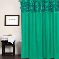 Add a beautiful, stylish touch to your bathroom with this modern leaf banded fabric shower curtain. The curtain features your choice of solid color with banded leaves along the top border for a gorgeous, sophisticated look that will complement almost any bathroom decor. Machine washable.