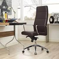 Enhance your office decor with the Salalima highback Office Chair in vinyl. Let the ergonomic design guide you to a productive day while the sleek design delivers the aesthetics. Salalima comes with a padded vinyl back and waterfall seat, polished chrome arms, and frame polished aluminum base, five dual-wheel nylon casters for easy movement over hardwood or carpeted surfaces, full 360-degree swivel and pneumatic height adjustment. Experience delightful work time with an office chair that...