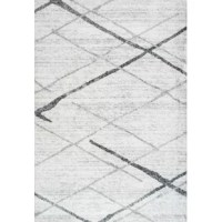 Set an artful foundation in your living room seating ensemble or give the master suite a makeover from underfoot with this essential area rug. Its eye-catching geometric pattern in neutral hues of gray is a perfect pick for modern spaces. Crafted from fade- and stain-resistant polypropylene, it features a 0.4'' pile height that encourages comfort underfoot while remaining easy to clean with regular vacuuming. We also recommend pairing this piece with a rug pad to keep it safely in place.