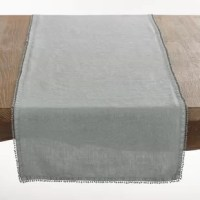 Give your dining table a subtle, sophisticated style with this tasteful table runner. The relaxed style of 100% linen is perfect for casual dining and daily use, while a wide assortment of solid colors offers versatility to easily mix with your existing decor and petite pom pom trim adds a hint of whimsy! Clean up is easy with linen, just toss in the washing machine and let air dry.