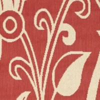 Entice your guests with this cozy touch, and they'll want to come back for your next backyard get-together. This outdoor rug is flatwoven in Turkey with a lively, red and cream-colored floral pattern. Crafted from all-weather synthetic fabric, this floral rug is both water and fade-resistant, so you don't have to worry about rolling it up and bringing it inside when the weather worsens. The low pile height makes it easy to clean; simply sweep, vacuum, or rinse off this area rug with a garden...