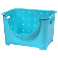 Organize and decorate your classroom or playroom with this functional storage solution. Made of sturdy, durable plastic, these containers can be easily stacked upon each other to be neatly stored away. Container has a wide open front design allowing easy access to contents, even when stacked.