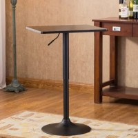 Minimalist design gets an approachable contemporary update in this pub table. Crafted of manufactured wood, the smooth tabletop strikes a square silhouette measuring 24