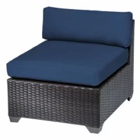 Create a relaxing getaway for your next backyard get-together with this lounge chair, the perfect addition to your patio furniture arrangement. This club chair is crafted with a resin wicker-wrapped aluminum frame and high-performance fabric upholstery that resist wet weather and UV fading for year-round outdoor use. Made to help you relax, this lounger features deep seating in sleek, modern lines, and 4'' thick seat and back cushions in your choice of bright and neutral colors that let you...