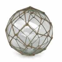 This product is a perfect beach wall art decoration. Gorgeous whether in your home or office, indoor or out, enjoy the charming inner warmth of this glass float as the flameless LED tea light inside plays throughout the glass ball. Perfectly contrasting the glass float is the authentic fishing rope netting which holds the float in place. Mesmerizing and enchanting, enjoy the historic wonder and brilliant style of this LED lighted nautical glass float each and every day. Comes with 3 CR2032 coin...